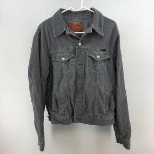 Lucky Brand Womens Jean Jacket Gray